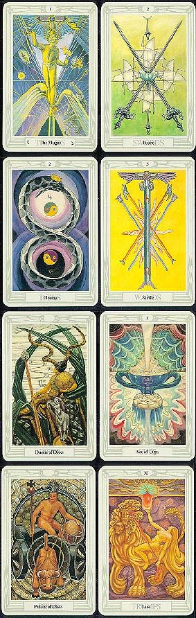 how to read thoth tarot cards