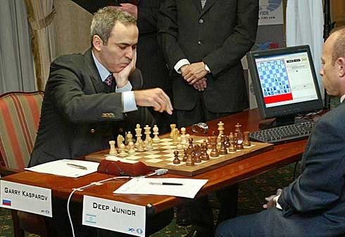 Deep blue junior taking out garry kasparov