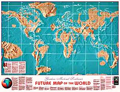Edgar Cayces Earth Change Prophecies Otherworld Mystery - Edgar cayce us map
